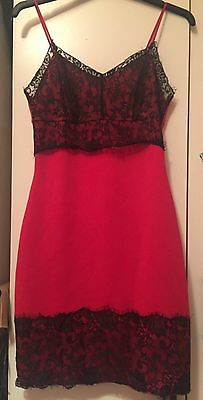 Red and Black lace dress size 8 bodycon