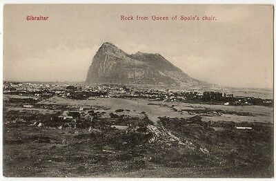 Gibraltar - Rock From Queen Of Spain's Chair ~ An Old Postcard 7W28