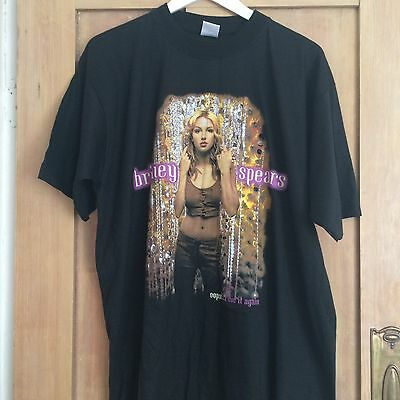 Britney Spears 2000 Oops I Did It Again 1st Int' Tour Concert T Shirt XL UNWORN
