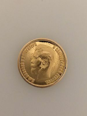 1899 Russian Gold 10 Rouble Coin