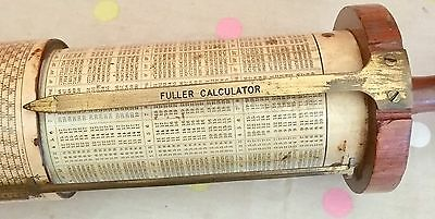 Rare Vintage STANLEY FULLER Cylindrical Slide Rule Calculator.Circa 1900 Antique
