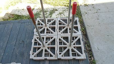 4 pc BRICK Concrete Stamp Set  tool for drive or walk way INDESCO