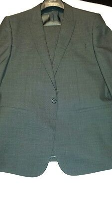 Counrty road mens slim fit suit in charcoal