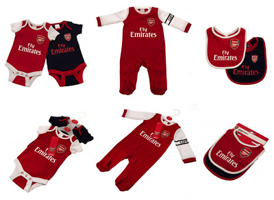 ARSENAL FC Baby Sleepsuit, Babygrow, Bibs etc Official Football Kit 18/19 Season