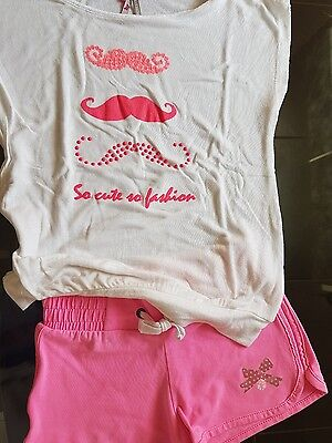 Ensemble short et tee shirt fille 5-6 ans