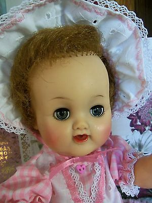 """1960's  Betsy Wetsy VW-2 13"""" Vinyl Baby Doll by Ideal"""