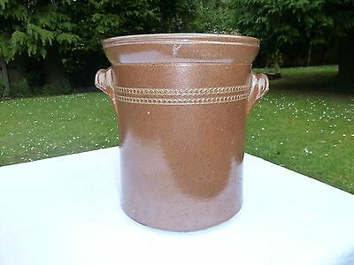 Vintage Brown Salt Glazed Stoneware Crock Pot/storage Pot.