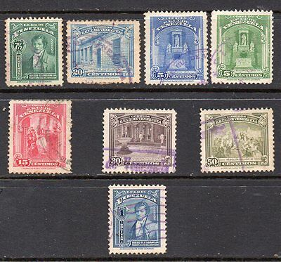 Venezuela: A Nice Selection of 8-Used-1940 1947 & 1948 Issues