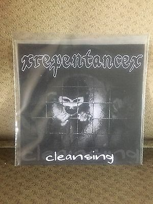 "xRepentancex Cleansing 7"" TEST PRESS Vegan Straight Edge Xvx Sxe"