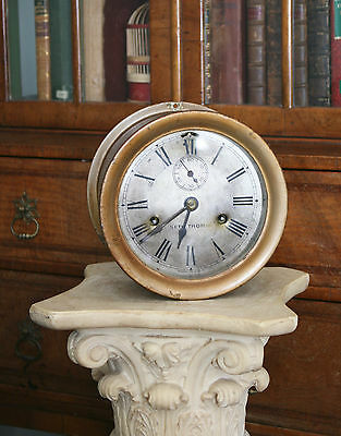 Superb Antique c1930 American Seth Thomas Eight Bell Ship's Bulkhead Clock,