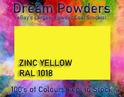 Zinc Yellow Gloss RAL1018 Powder Coat 1KG Refurbishment Powder Coating