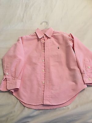 POLO RALPH LAUREN long sleeve  BOYS SHIRT   SIZE 4