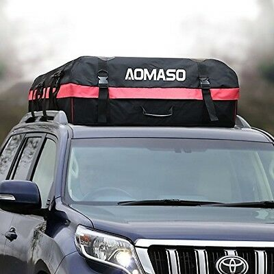 Aomaso Car Top Carrier Waterproof Roof Top Cargo Rack 10 Cubic Feet Storage Box