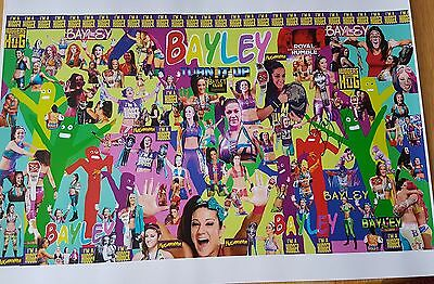 Bayley Large A3 Signed Poster Wrestlemania 33