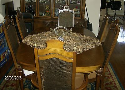 Dining set, table oval shape, 6 chairs
