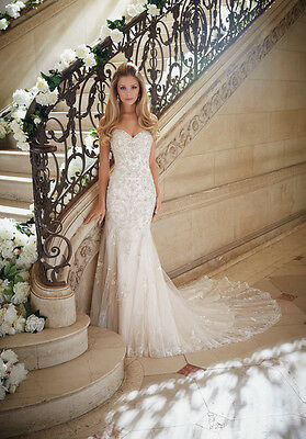 Designer Mori Lee 2886 Wedding Dress Bridal Gown - Size 10