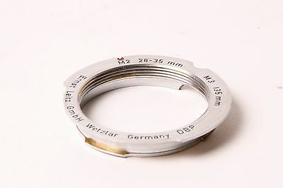Leica Lens mount adapter. Screw mount to M mount. For M2 28-35mm and M3 135mm.