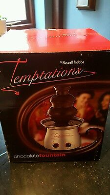 Russell Hobbs Temptations  Large Electric Chocolate Fondue Fountain NEVER USED