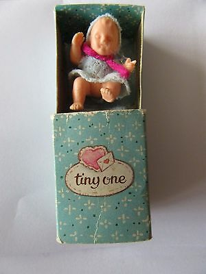 "Vintage ""tiny One"" Dolls House Baby Doll In A Box"