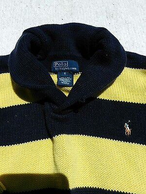 Toddler boys clothing 6 knit sweater 100% cotton POLO RALPH LAUREN