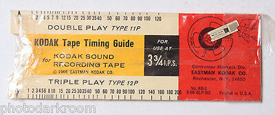 Kodak Tape Timing Guide - Type 12P 11P 31A 21A - Looks Unopened - VINTAGE B47