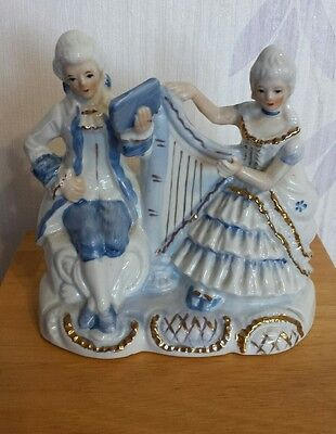 Vintage china Georgian? blue & white figurine
