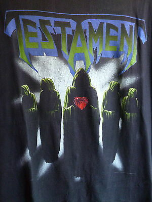 "TESTAMENT original 1990 ""souls of black-clash of the titans tour"" t.shirt-XL"