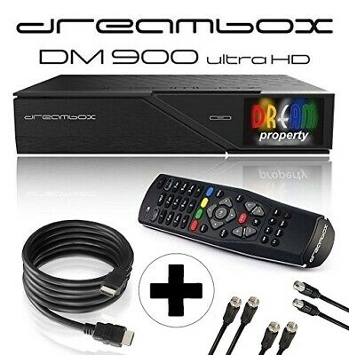 Dreambox DM900 UHD 4K E2 Linux PVR Receiver 2x DVB-S2X, 1x DVB-C/T2 Triple Tuner