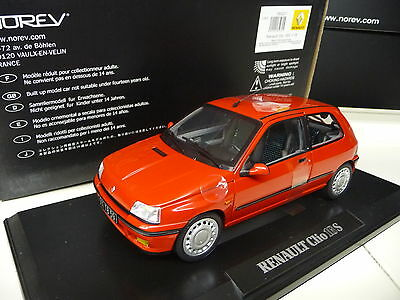 1:18 NOREV Renault Clios 16S  Red NEW