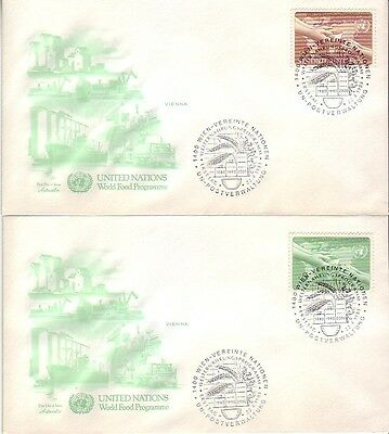 U.N. (Vienna) - Various Issues of 1982-83 (3no. Artmaster FDC's) 1982-83