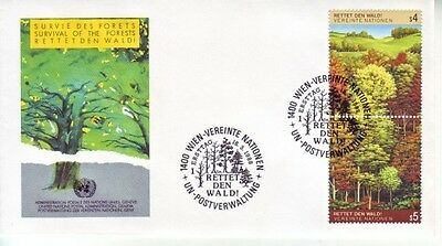 U.N. (Vienna) - Various Issues of 1988 (2no. Vienna FDC's) 1988