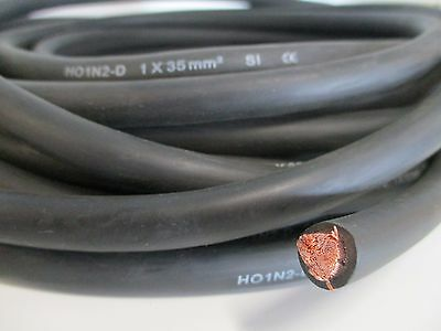 10 Metres Single Insulated 35mm Rubber Copper Welder Cable - Welding / Cutting
