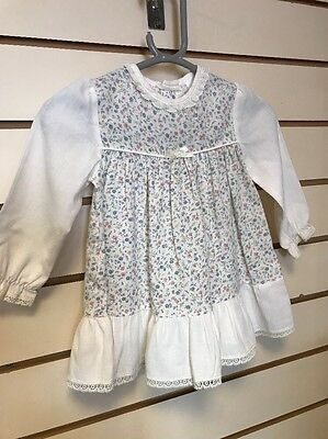 Vintage Baby Girls Ladybird Dress Age 12-18m 6-9 9-12