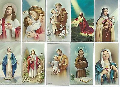Vintage Religious Prayer / Funeral Death Card Mixed Lot of 10 made in Italy