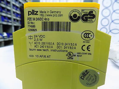 Pilz PZE-X4 24VDC 4n/o Safety Relay