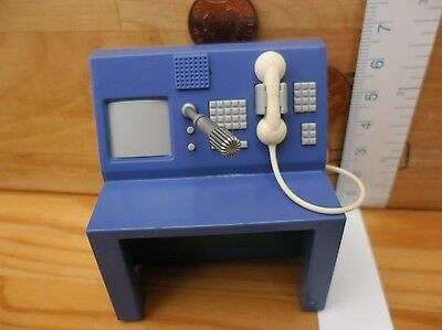 7811 Front Desk Screen Phone Mike Take Along - Playmobil Used Spares