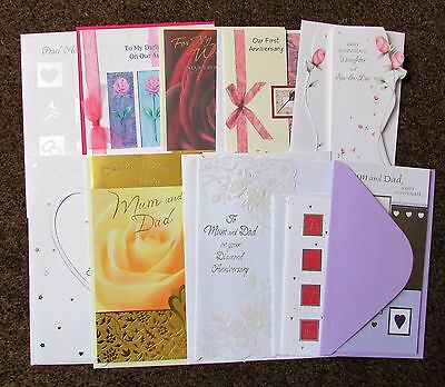 Job lot of anniversary cards (10)