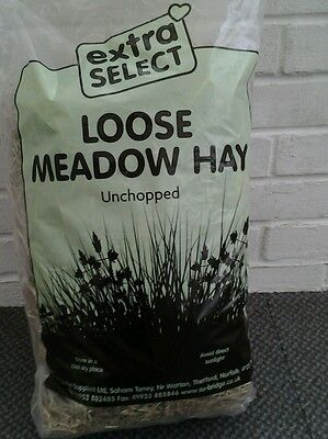 Large Bag Of Unchopped Loose Meadow Hay Bedding Hampster Rabbit Guinea Pig