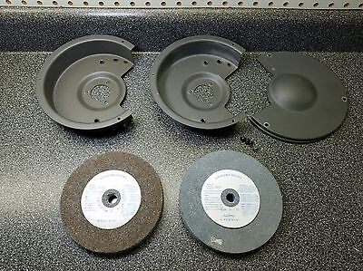 """Pair of Generic Grinding Wheels 6"""" x 3/4"""" x 1/2"""" with covers"""