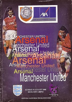 1998 CHARITY SHIELD ARSENAL v MANCHESTER UNITED