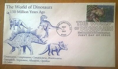 First day of issue 1997 The World of Dinosaurs, Ceratosaurus, # 3136a