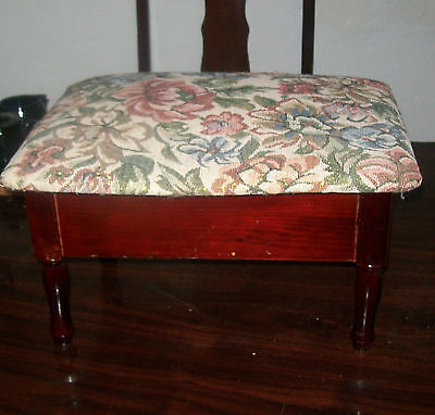 Vintage Style Sewing Stool with legs,Padded top.