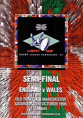 1995 RUGBY LEAGUE WORLD CUP SEMI FINAL ENGLAND v WALES (at OLD TRAFFORD)