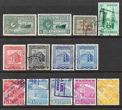 Venezuela: Nice Selection of 13-Used 1948-52-53 & 1958 Issues (Reduced Postage)