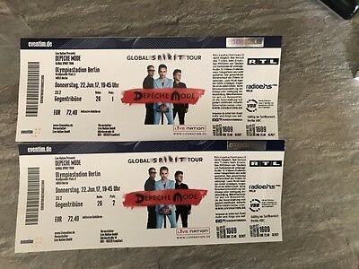 2 tickets karten depeche mode berlin eur 170 00 picclick de. Black Bedroom Furniture Sets. Home Design Ideas
