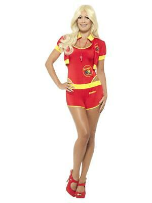 Womens Ladies Deluxe Baywatch Lifeguard Fancy Dress Costume