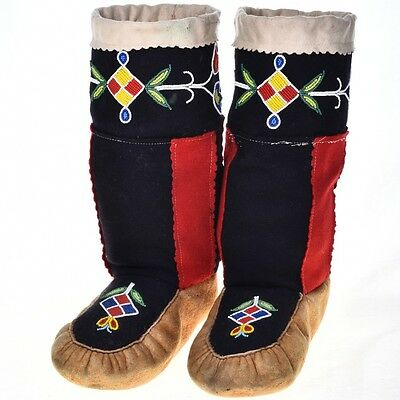 Beaded Moccasins Collectible Native American Made