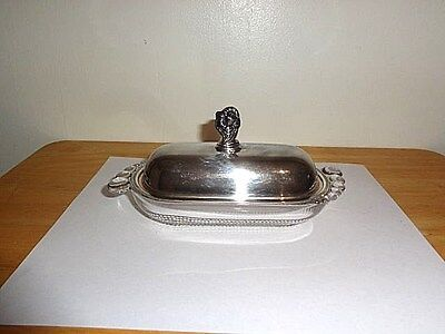 """Vintage """"Intl. Silver-1847 Rogers Bros.-Daffodil Silverplated-Butter Dish"""""""