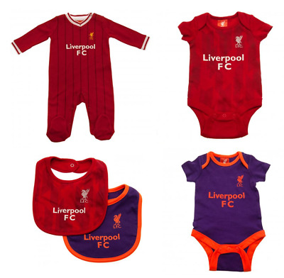 LIVERPOOL FC 2019 Clothes Bodysuit Sleepsuit Bib Shirt & Shorts Baby Gifts