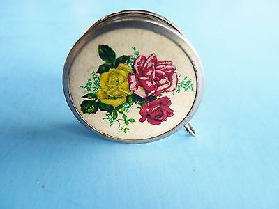 Antique Made In Germany  Roses Sewing Tape Measure  Shabby Chic